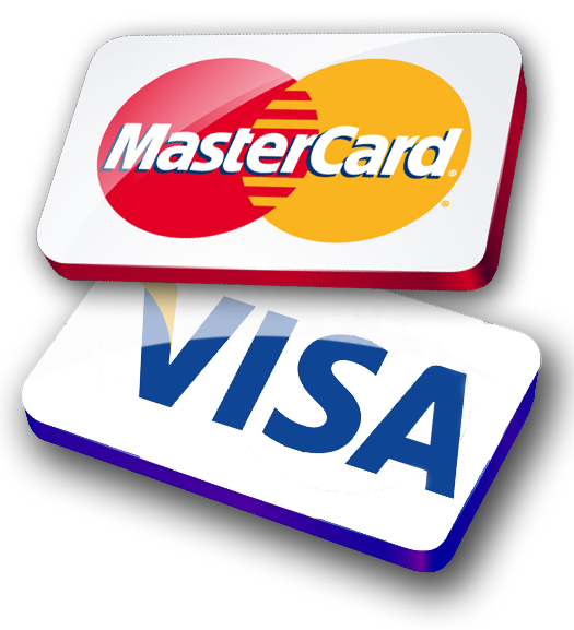 We Accept The Following Credit Cards